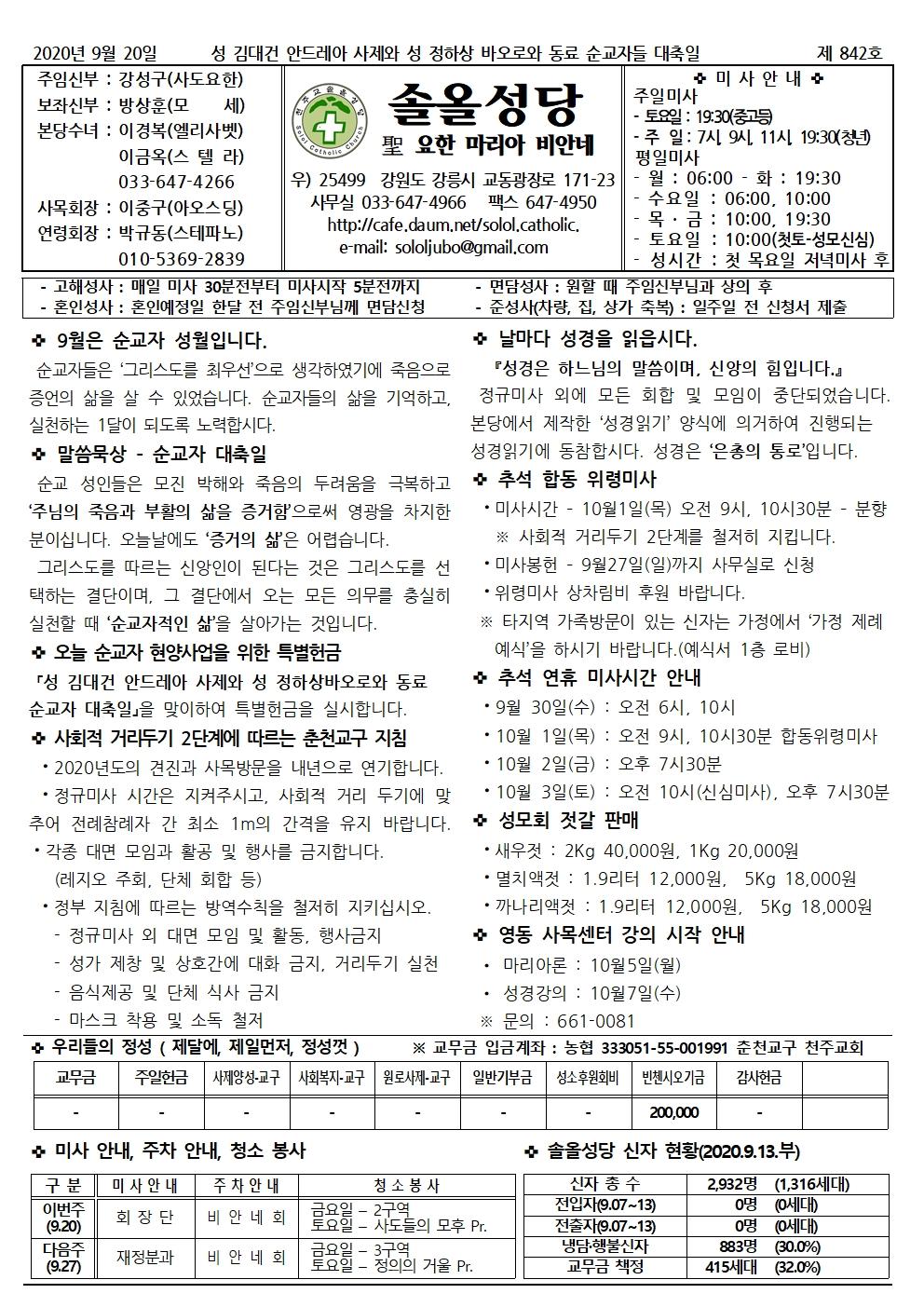 2020.9.20 성 김대건 안드레아 사제와 성 정하상 바오로와 동료 순교자 대축일001.jpg